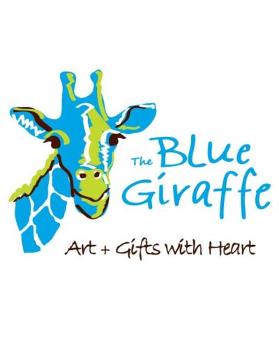 the blue giraffe - official promo logo